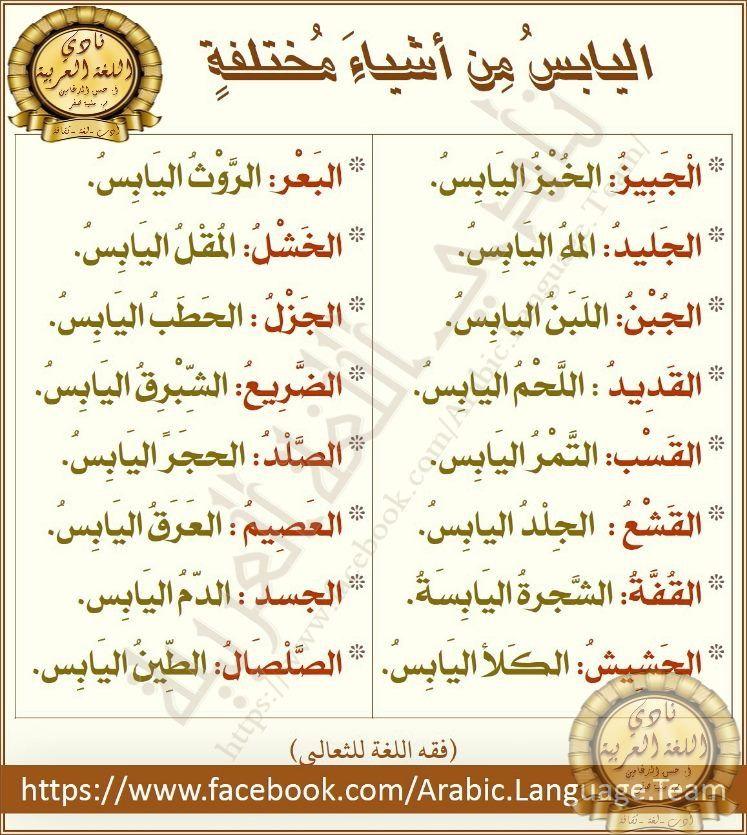 Pin By Soso On علم الدلالة Beautiful Arabic Words Learn Arabic Language Words