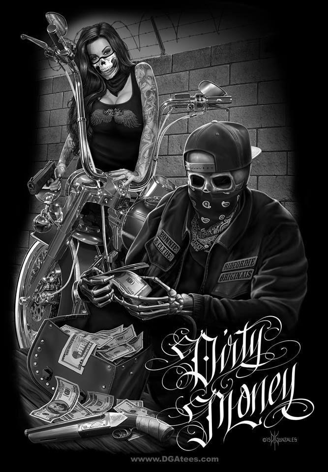 Ride Or Die Dga Tees Arte Skull Lowrider Art Biker Art Chicano Art