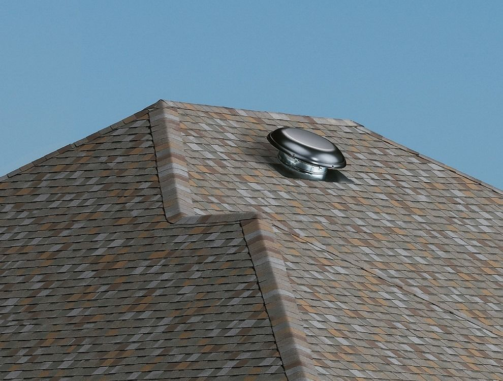 Air Vent Roof Mounted Gray Power Attic Ventilator Fan 1320 Cfm 53833 Attic Vents Roof Outdoor Supplies