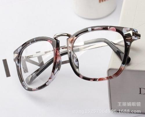 3708157411 Montura Gafas Semi-metálicas/marco Cuadrado Floral Mujer | ɢlαѕѕeѕ ...