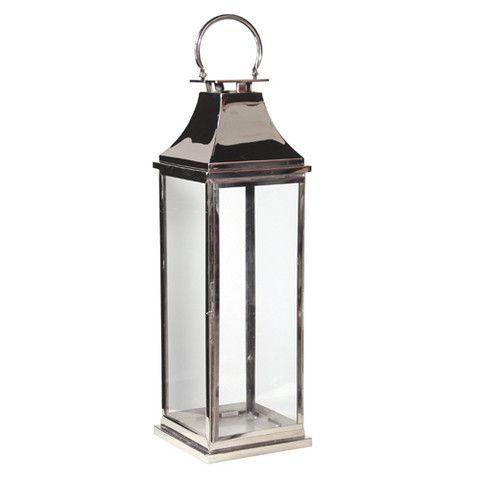 Tall Chrome Garden Lantern (112cm)