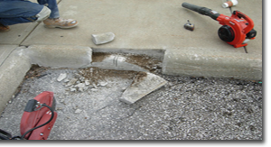 Concrete Repair - We have top of the line products we use to repair your damage concrete. Here are some photos to show you what great things our products can do for your concrete. It will make your ugly broken concrete turn into nice clean looking concrete. You will not be disappointe