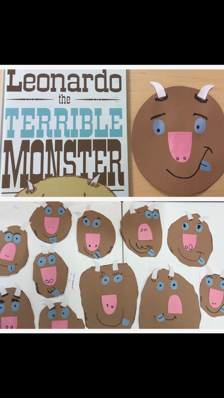 Mo Willems Leonardo The Terrible Monster Preschool Craft