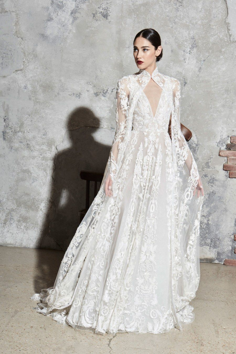 Image result for zuhair murad cape bridal