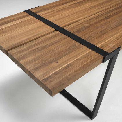 Tisch Mit Metallbeinen esstisch mit metallbeinen und massivholzplatte aus eichenholz in