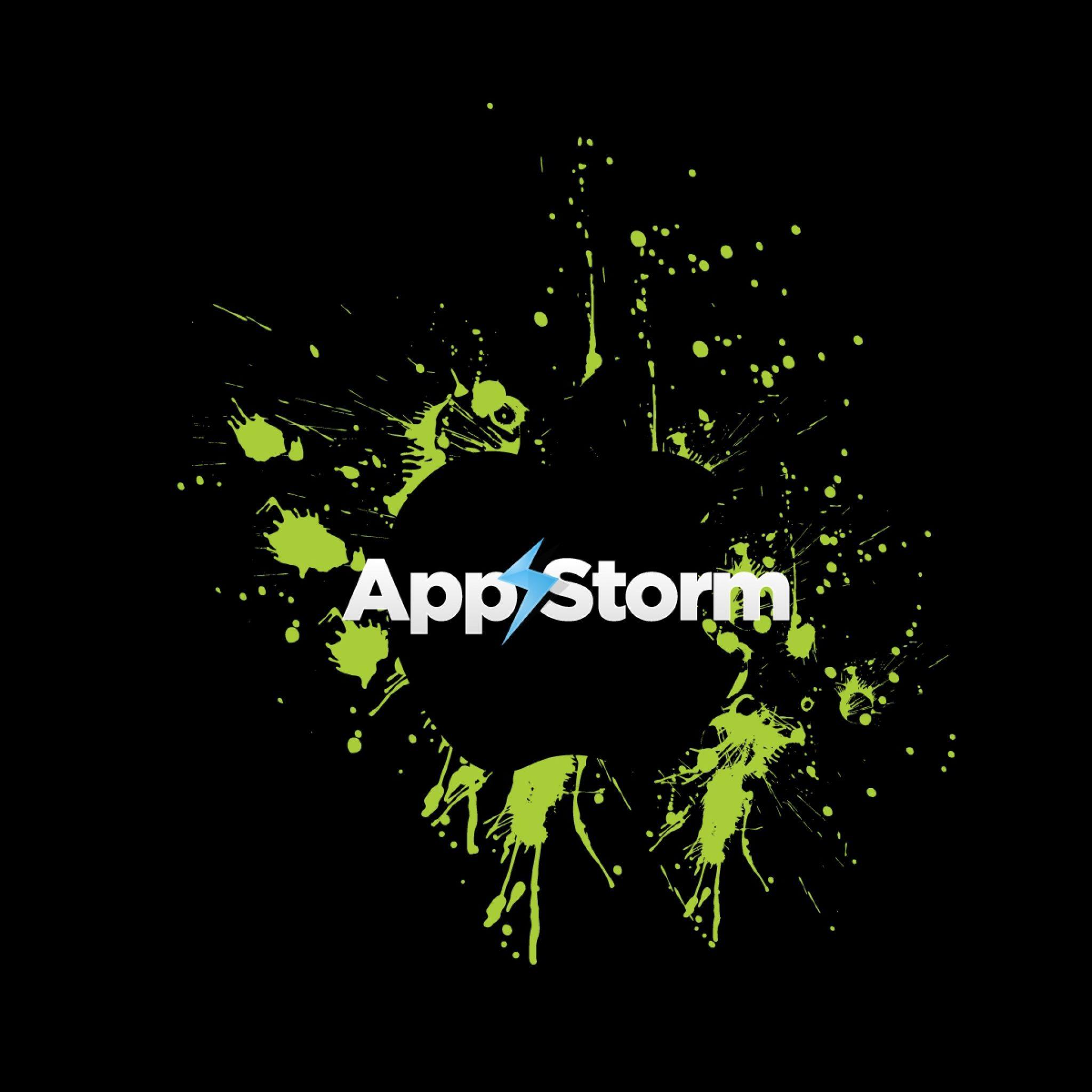 2048x2048 Wallpaper App Store Apple Mac Green Black Blotch