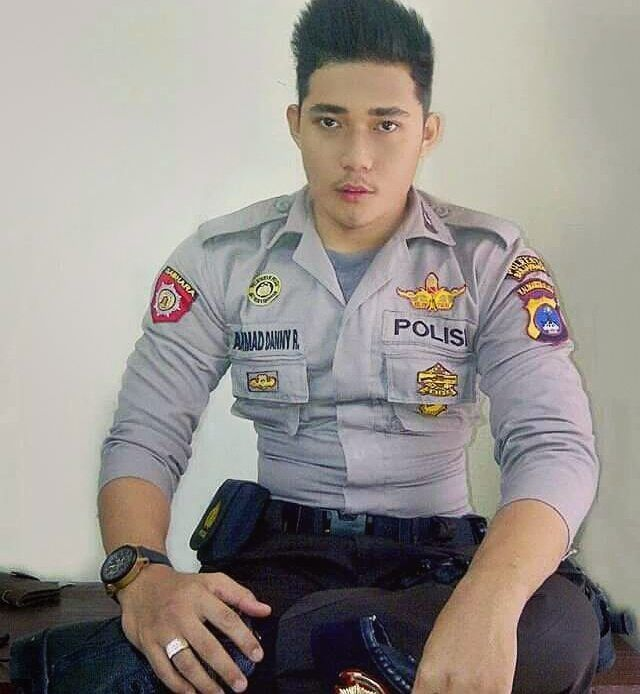 image Gay sexy indonesian police man shirtless