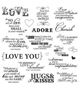 Fiskars Quotes Clear Stamps - Lasting Love : stamps ...
