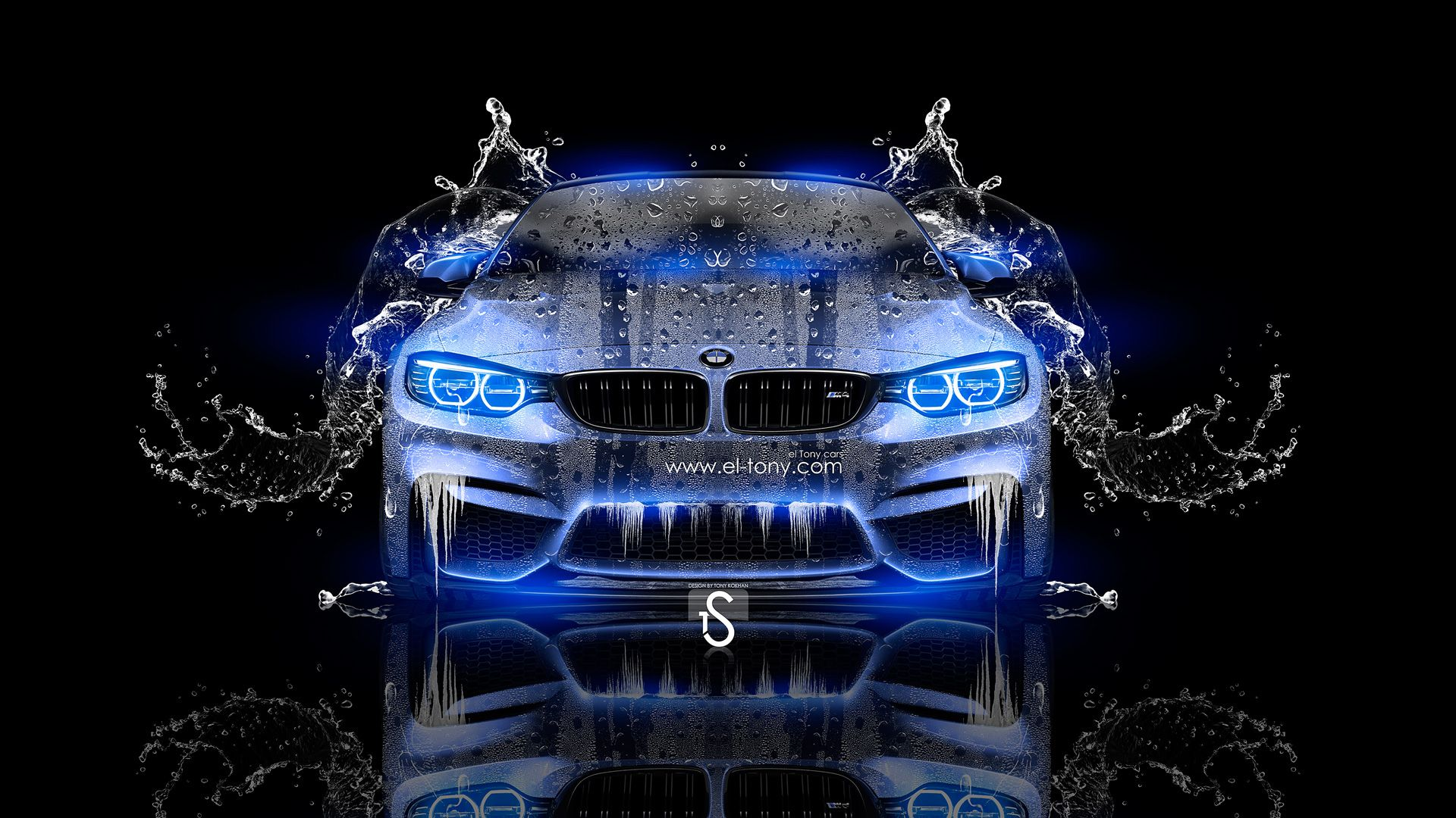 Cool Bmw M4 Abstract Art Hd Wallpaper With Images Neon
