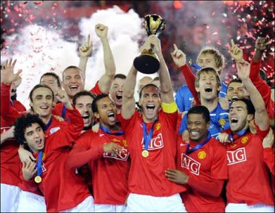 Manchester United 2008 World Club Cup Winners Manchester United Champions Manchester United Football Club Rio Ferdinand