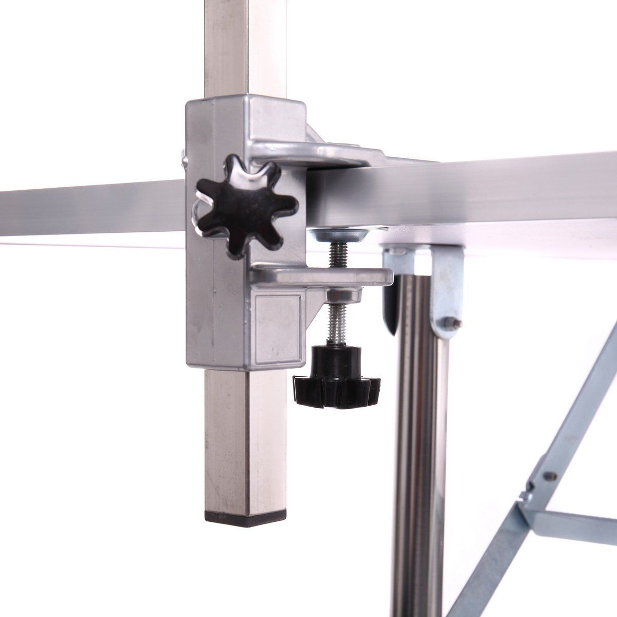 Dog grooming table adjustable arm and clamp for pet