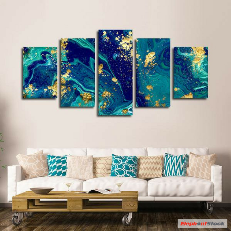 Liquid Marble Multi Panel Canvas Wall Art In 2021 Diy Canvas Wall Art Canvas Wall Art Wall Canvas