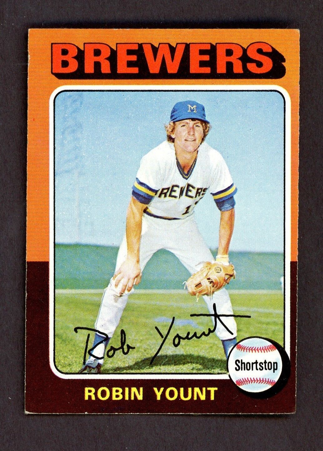 1975 topps 223 robin yount milwaukee brewers rc rookie