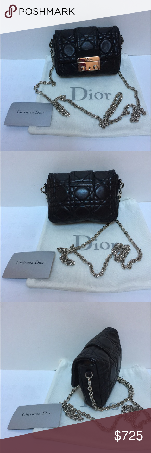 1df92be9c2d8 Christine Dior authentic cross body quitted bag Authentic