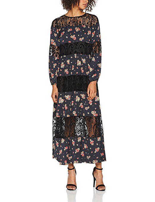 Liu Jo Damen Kleid Sainty Long, Mehrfarbig (Provence Blu ...
