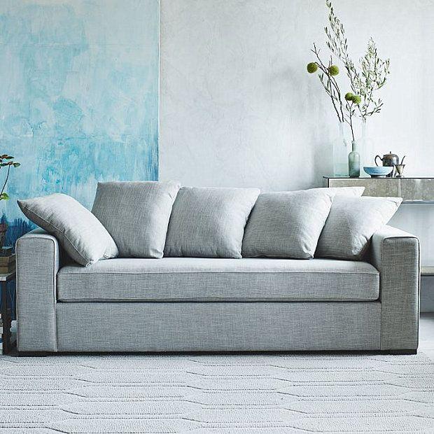 Boxy Sofa With Loose Back Cushions Decoist