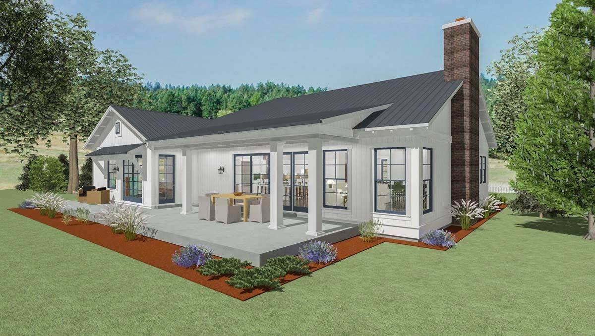 Plan 64449SC: Stylish Farmhouse Ranch House Plan | Ranch ... on farmhouse colonial, farmhouse white, farmhouse ranch,