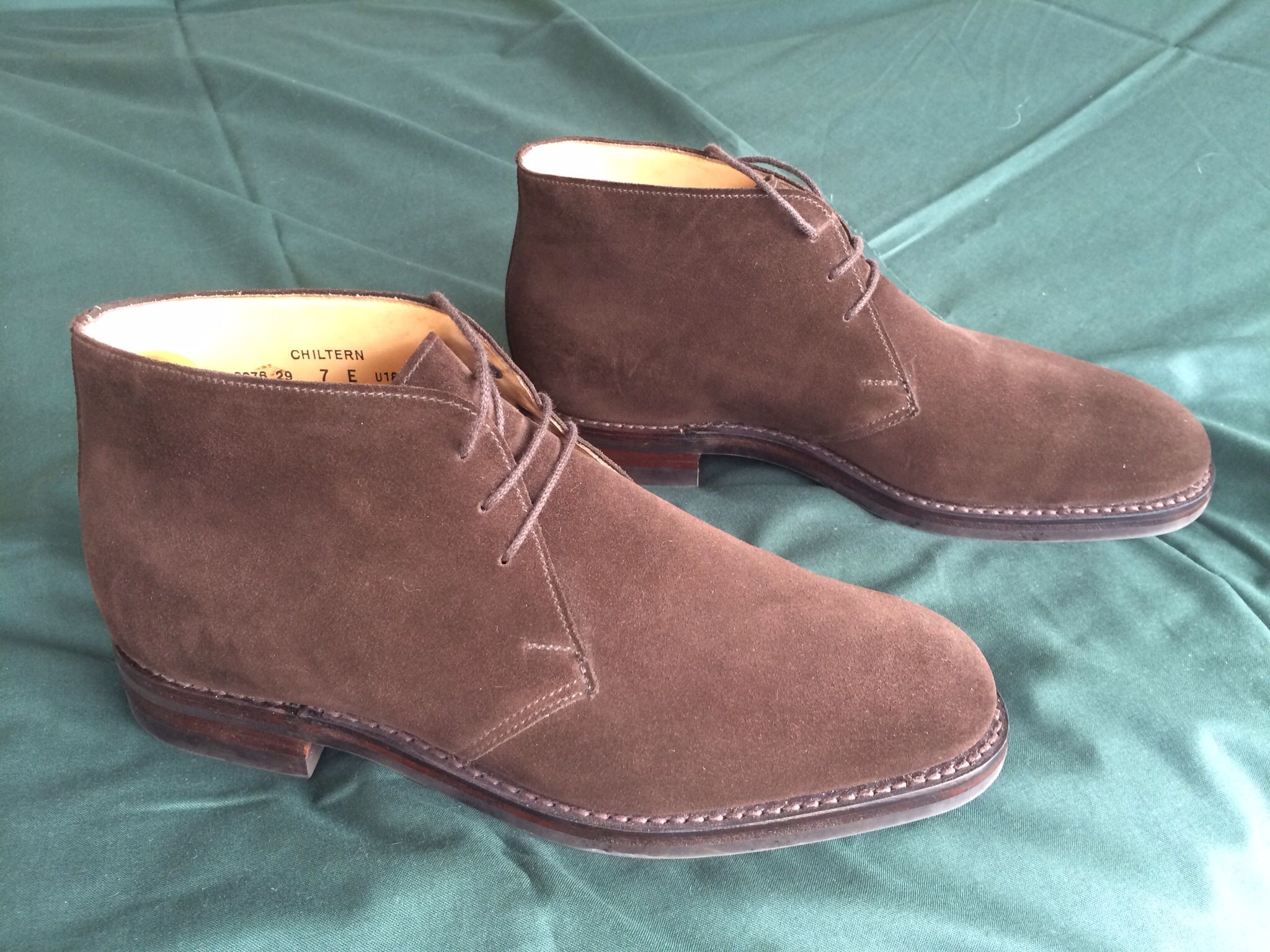crockett and jones chiltern brown suede boots a