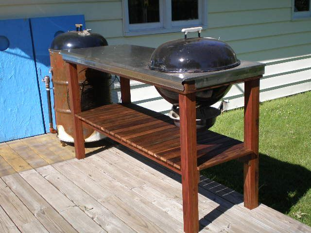 Uds Stand The Bbq Brethren Forums Bbq Table Bbq Stand Grill Table