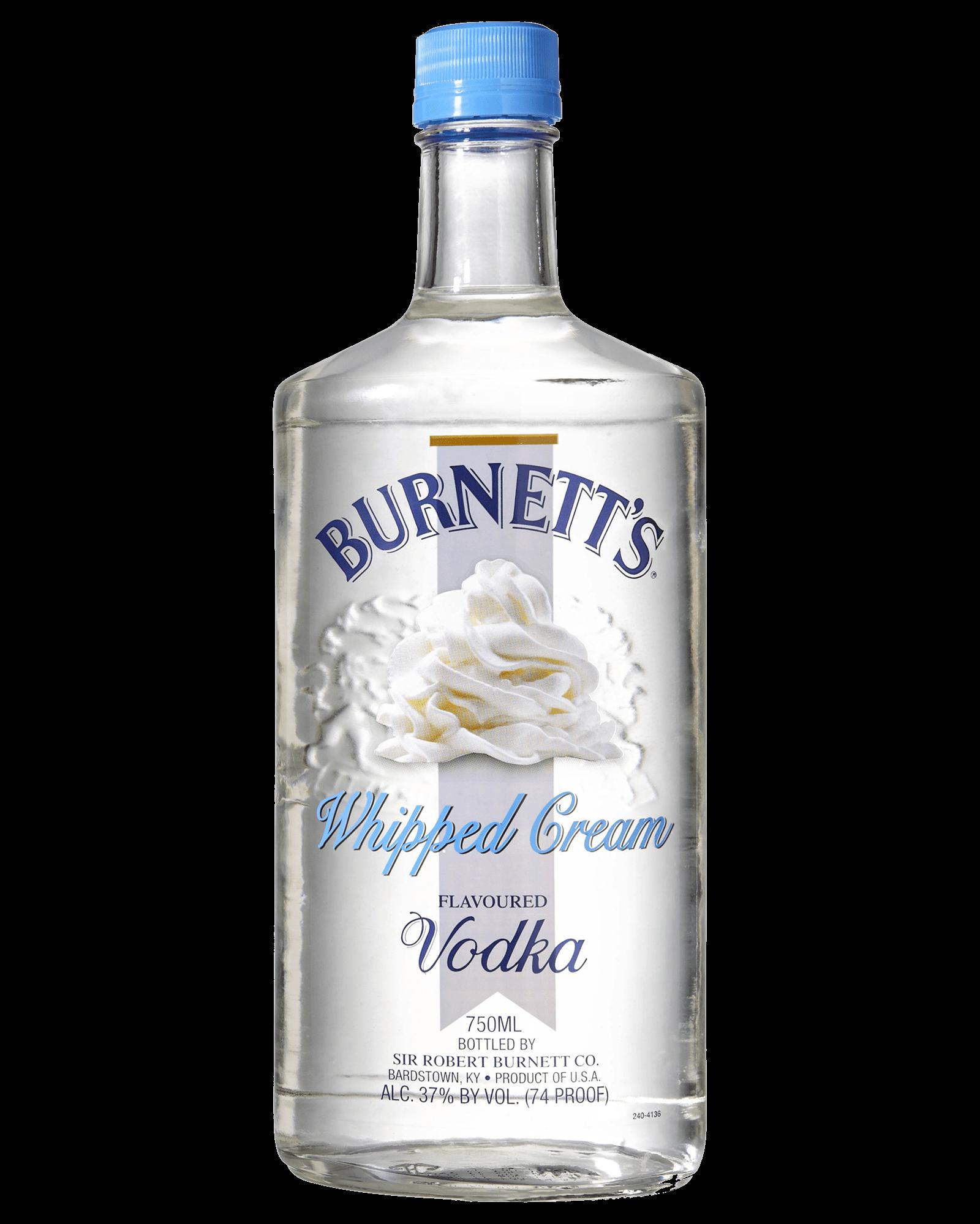 Burnett's Whipped Cream Flavoured Vodka 750mL (With Images
