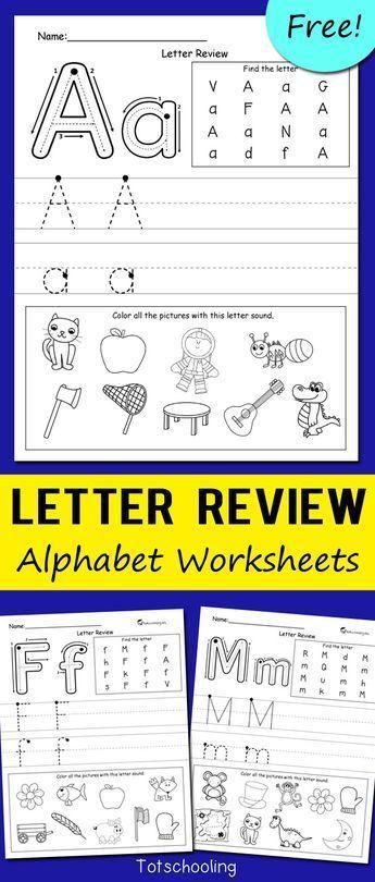 letter review alphabet worksheets free printables for kids kindergarten worksheets alphabet. Black Bedroom Furniture Sets. Home Design Ideas