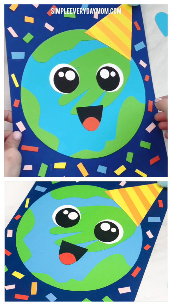 Make This Handprint Earth Craft For Earth Day Celebrations #craft
