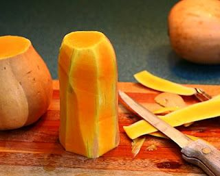 """How to cut up a butternut squash - """"I tried this and the recipe at the bottom of the page. It was very, very, very YUMMY!"""" ~LeeAnn"""