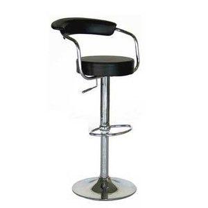 Omicron Black Kitchen Padded Salon Bar Stool Adjustable Bar Stools Modern Bar Stools Contemporary Bar Stools