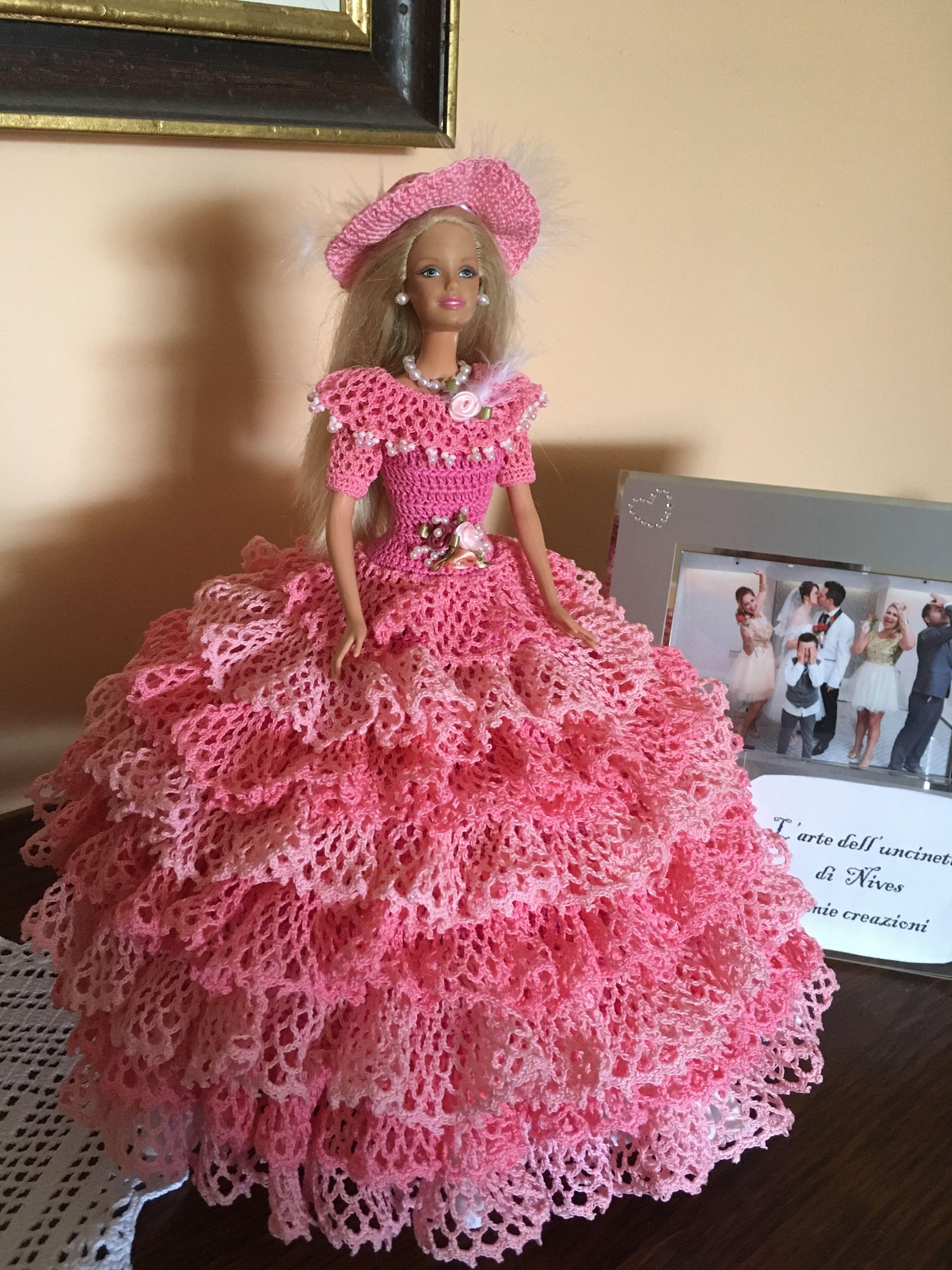 Miss April 1992 Cotillion Barbie Doll Outfit Crochet Pattern Booklet