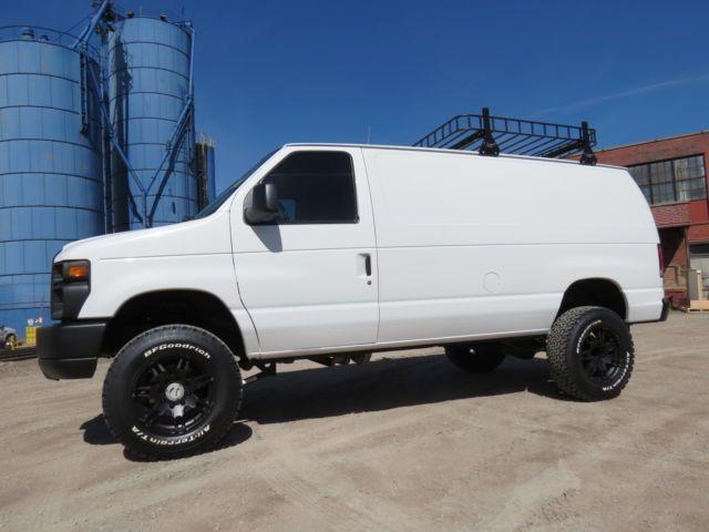 2008 Ford E 350 Custom 4x4 Passenger Cargo Camping Van Rv Prep V10 46k Miles Custom Vans Van Lifted Van