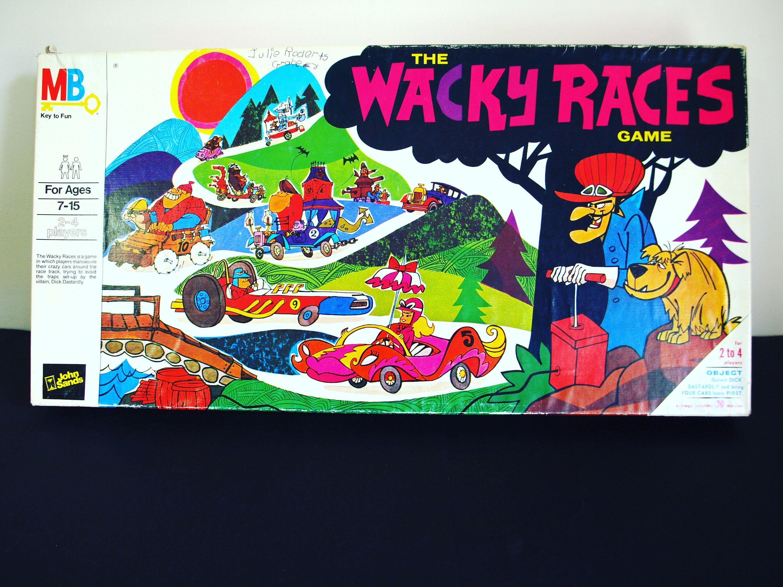 Wacky Races Board Game Vintage 1968 Milton Bradley John