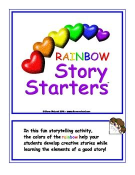 Rainbow Story Starters. Creative writing/storytelling activity. $1.50