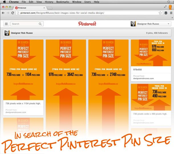 Great article with examples of how Pinterest resizes various ...