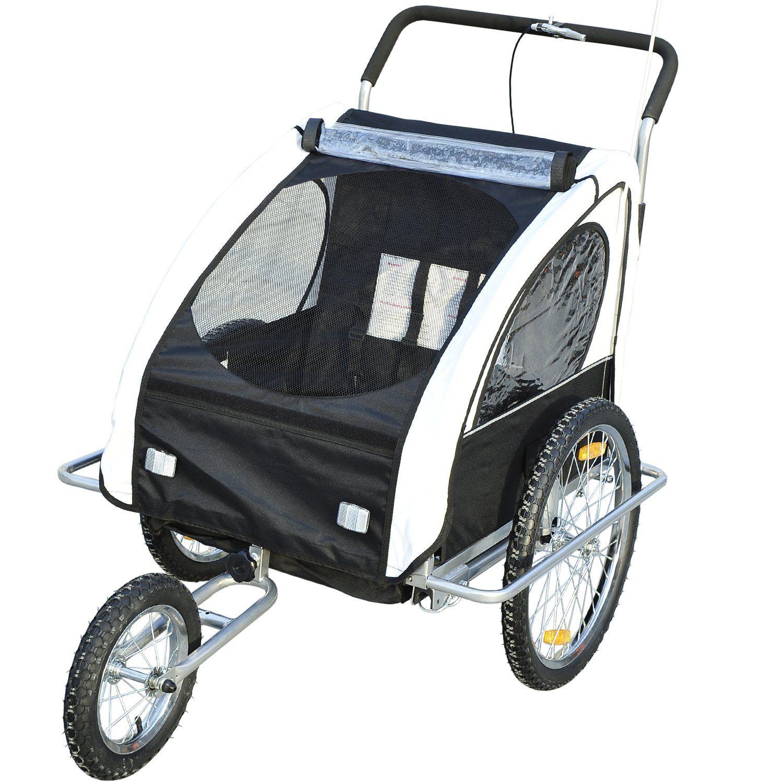 Homcom 2in1 Jogger Kinderanhanger Fahrradanhanger Kinder