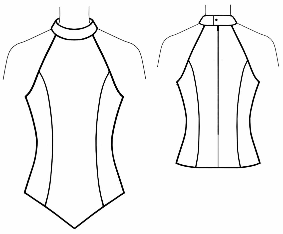 Halter Neck Dress Pattern