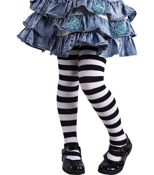 285cfca51842e Child Black & White Striped Tights | Costume Ideas | Halloween ...