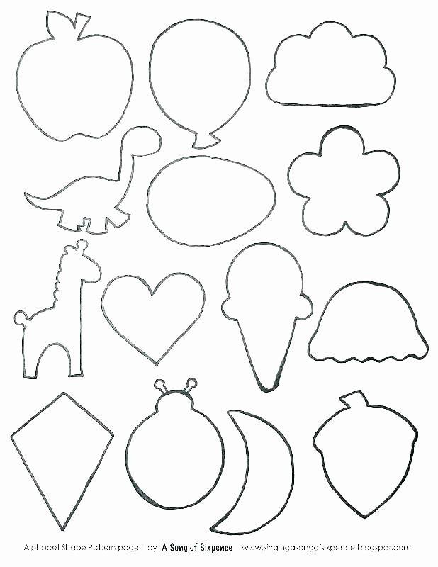 Preschool Diamond Shape Worksheets Shape Coloring Sheets