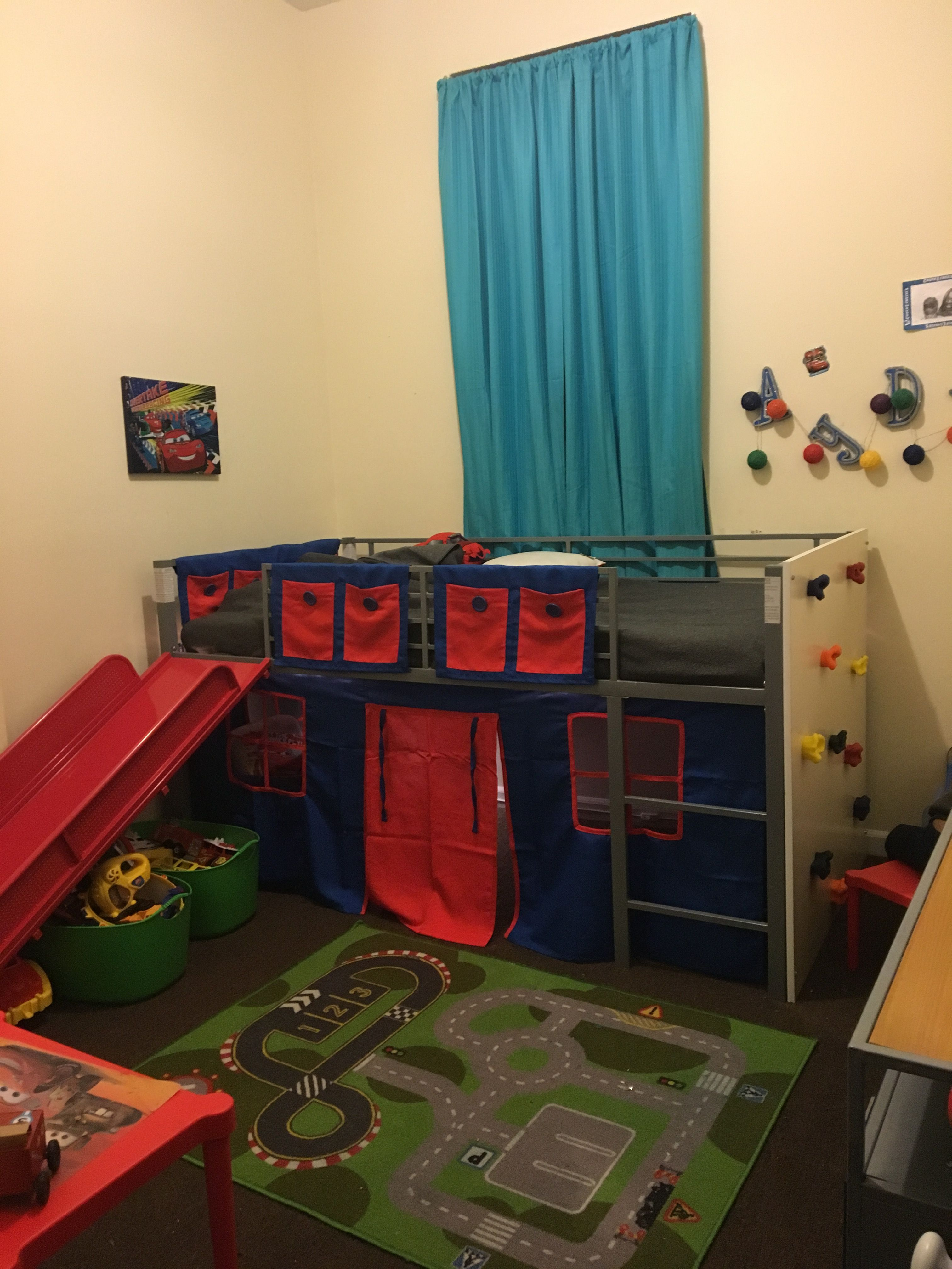Walmart Junior Loft Bed With Slide And Custom Rock Climbing Wall