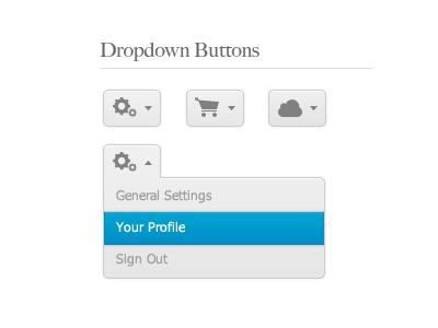 Dropdown Buttons by Liam Wolf http://www.neopeaks.com