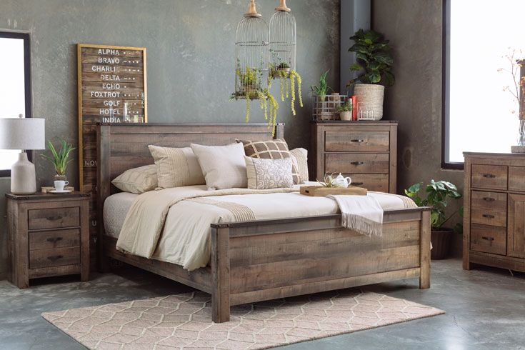 Trinell Bedroom Suite by Ashley #rusticbedroomfurniture