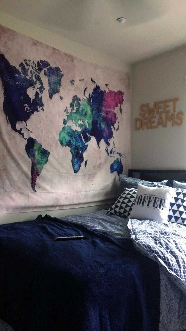 38 Must Have Apartment Bedroom Tapestry Ideas With Images Dorm