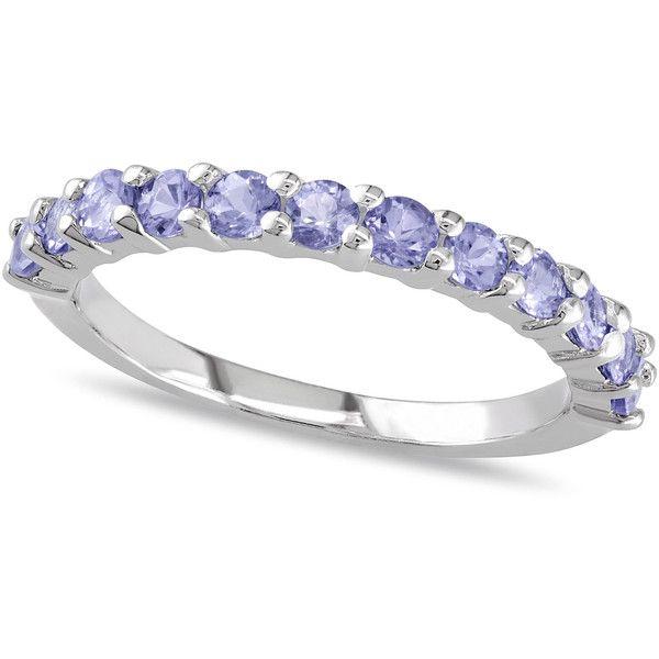 Silver tanzanite wedding ring