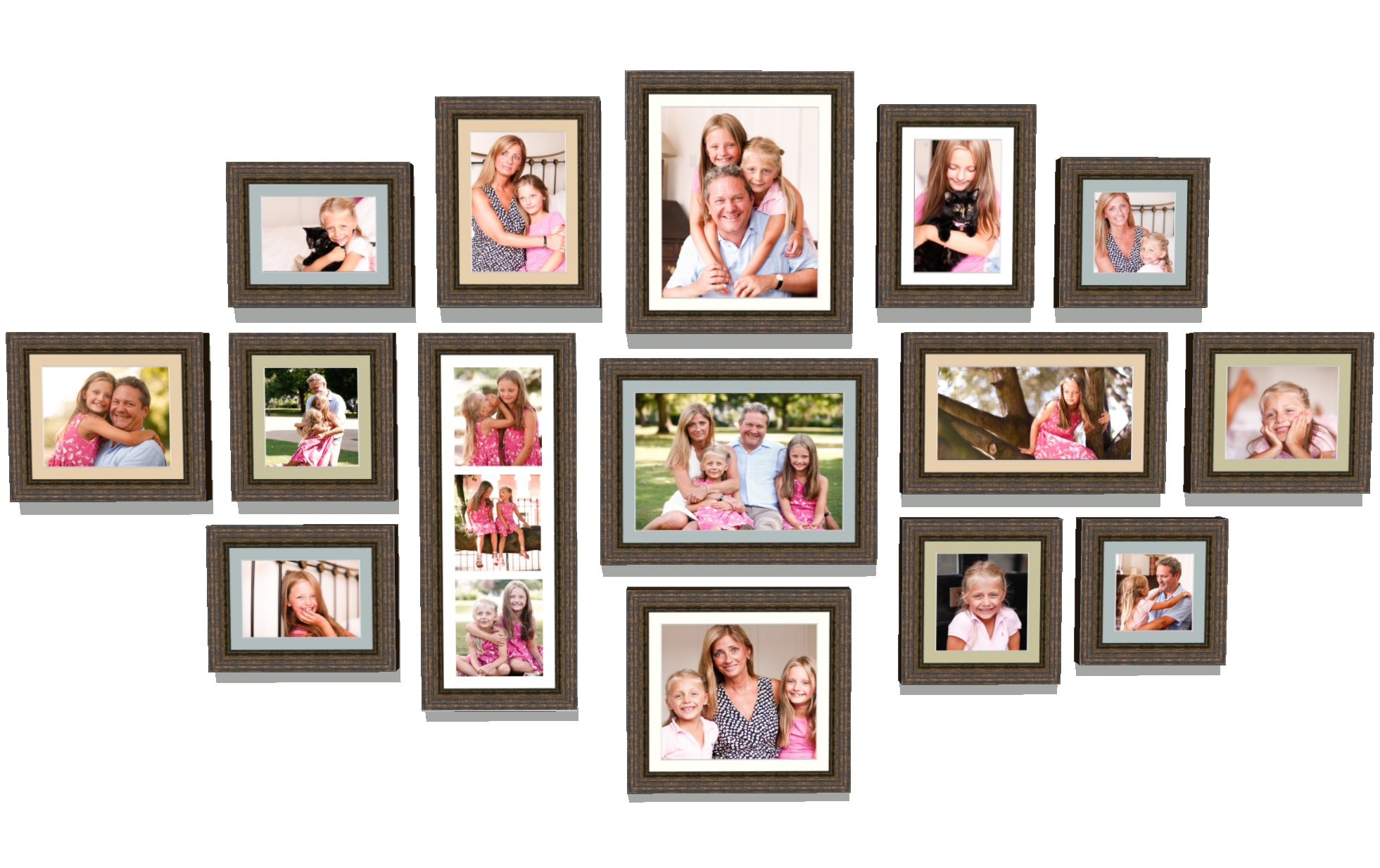 Family Photo Shoot Framing Design
