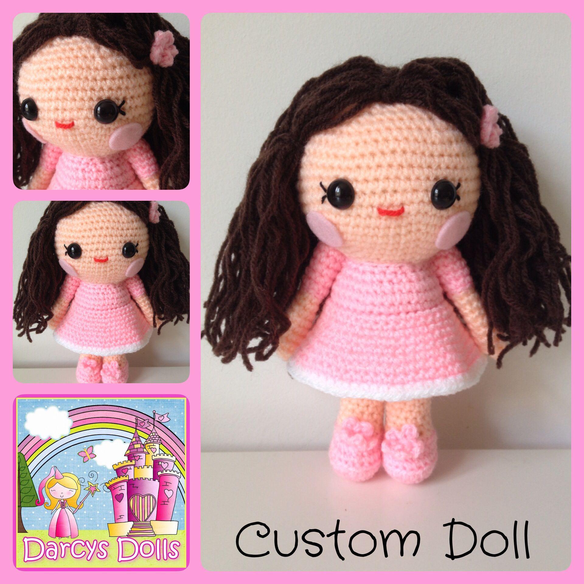 Custom crochet doll by Darcy's Dolls www.facebook.com/Darcysdolls