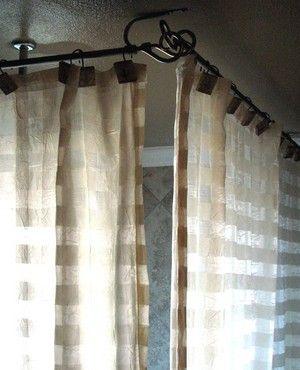 clawfoot tub shower curtain option home bathroom Pinterest