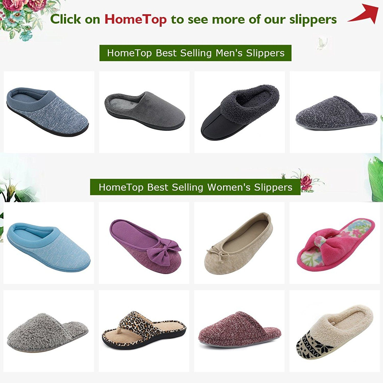 HomeTop Women\'s Leopard Memory Foam Spa Thong Flip Flops Indoor ...