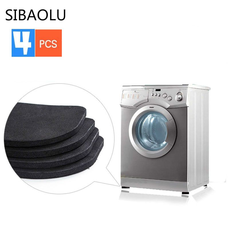 Home & Garden Anti-vibration Pad Mat For Washing Machine Shock Pads Non-slip Mats Set Bathroom Accessories
