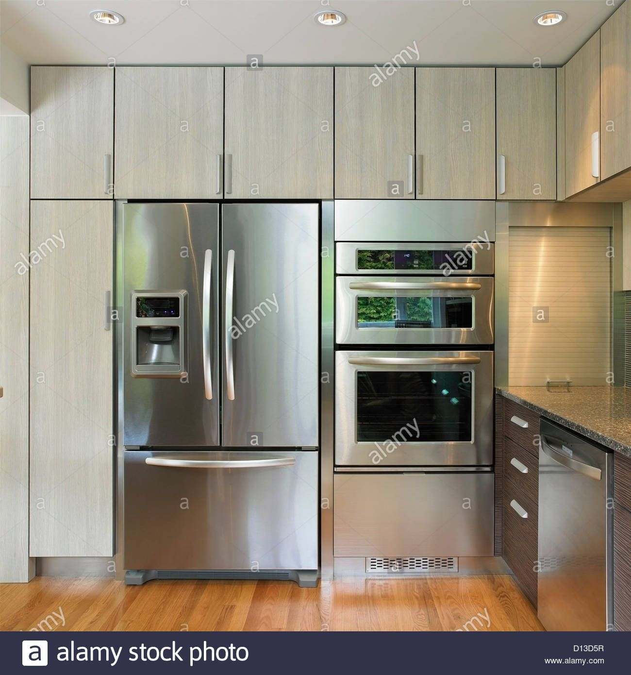 Free Picture Indoors Contemporary Stove Refrigerator: Image Result For Kitchen Built In Voens Like This Combo Of