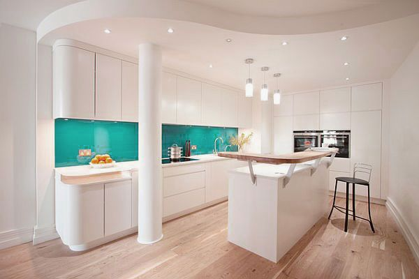 Modern White Kitchen Wood Floor captivating white kitchen design with wooden floors | kitchen