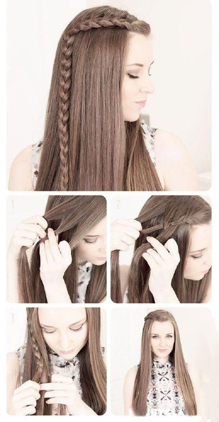Cute and easy hairstyle tutorials hair pinterest teen